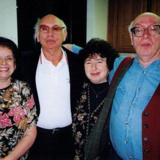 With Professor Vitaly Margulis, classmate and lifelong friend Luda Adjemova and Margulis' brother Kostya.